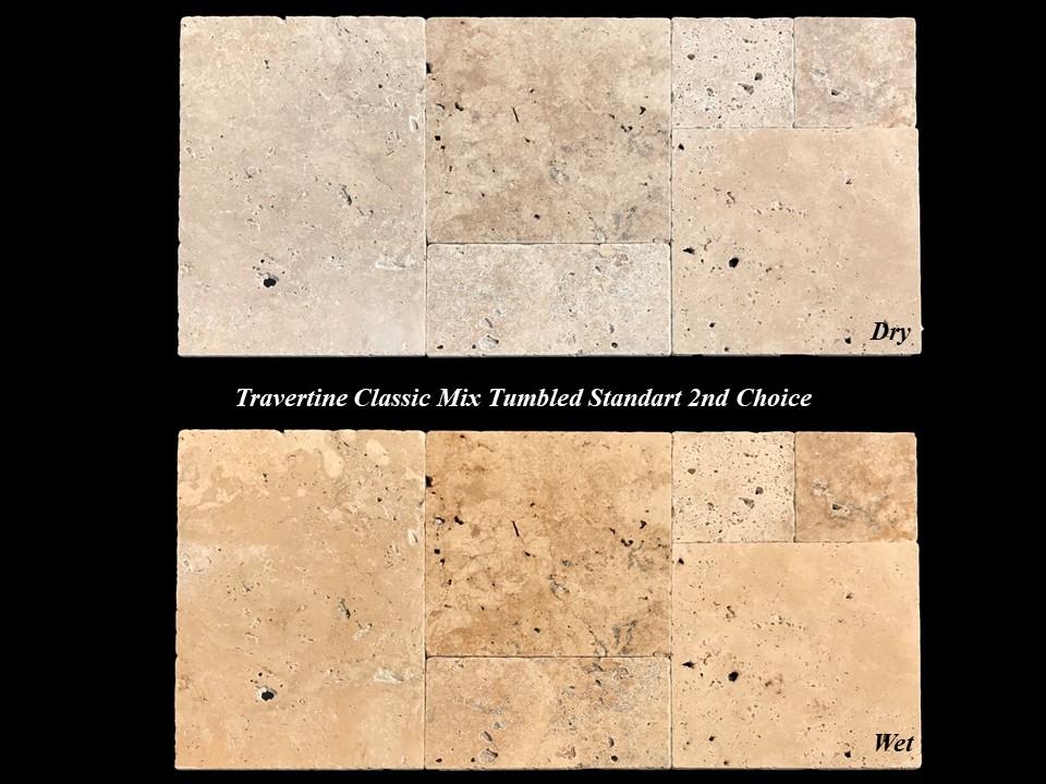 Travertin Classic Mixe Vieilli 2eme Choix