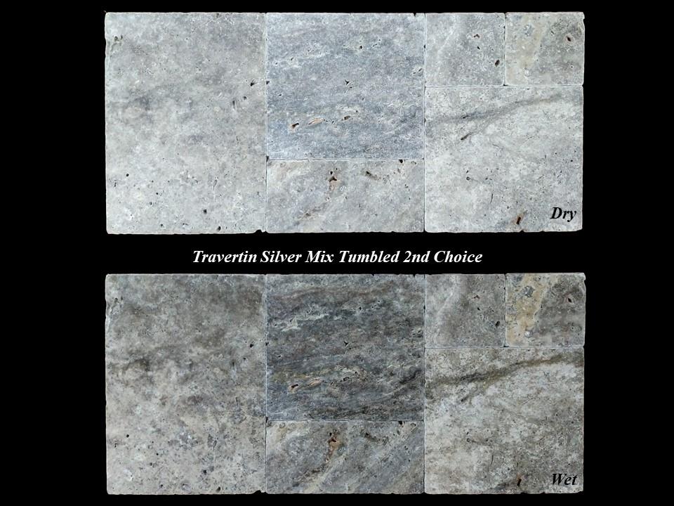 Travertin Silver Mixe Vieilli 2eme Choix